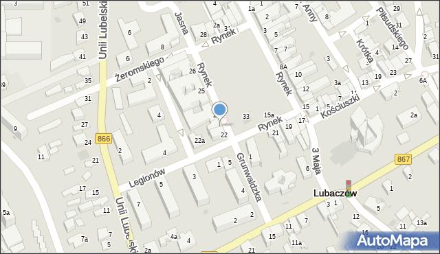 Lubaczów, Rynek, 23, mapa Lubaczów
