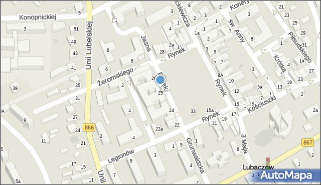 Lubaczów, Rynek, 25, mapa Lubaczów