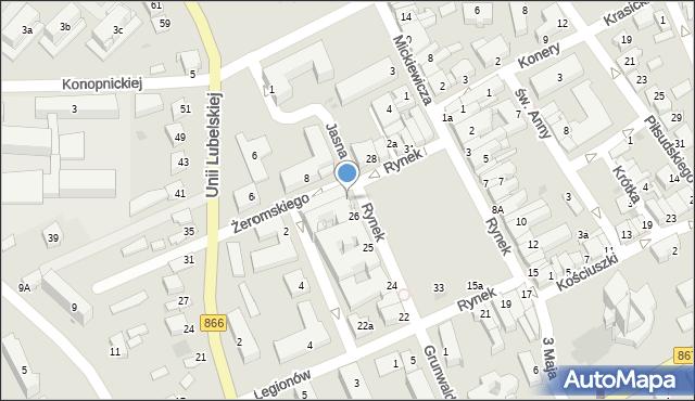 Lubaczów, Rynek, 27, mapa Lubaczów