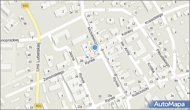 Lubaczów, Rynek, 32, mapa Lubaczów