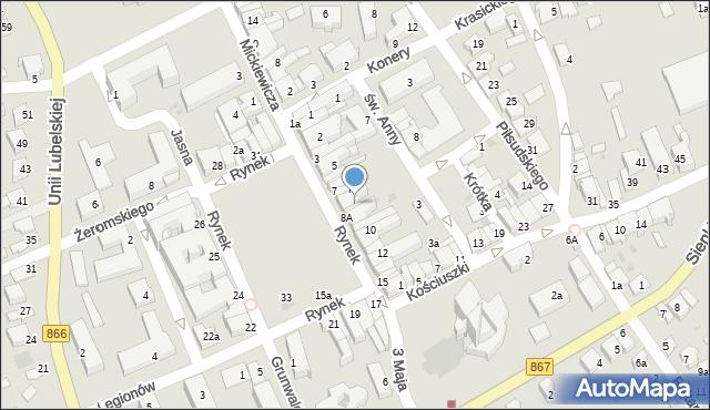 Lubaczów, Rynek, 8, mapa Lubaczów