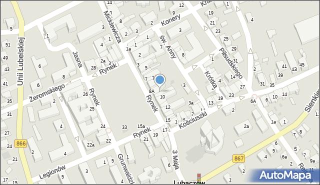 Lubaczów, Rynek, 9, mapa Lubaczów