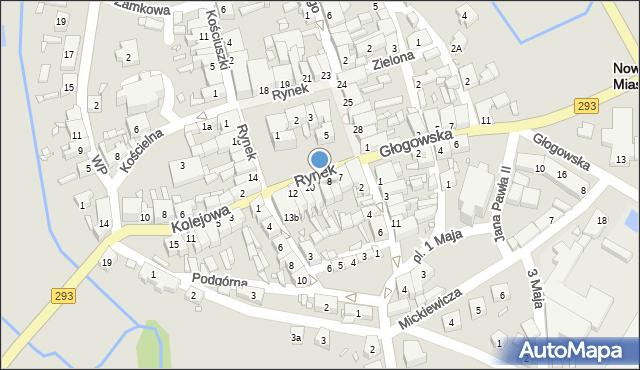 Nowe Miasteczko, Rynek, 9, mapa Nowe Miasteczko