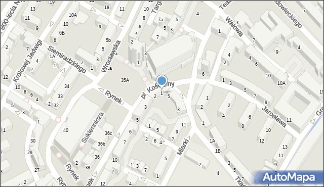 Nysa, Rynek, 1, mapa Nysy