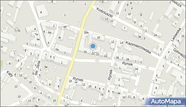 Przeworsk, Rynek, 21, mapa Przeworsk