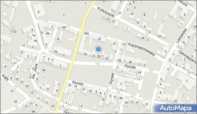 Przeworsk, Rynek, 22, mapa Przeworsk