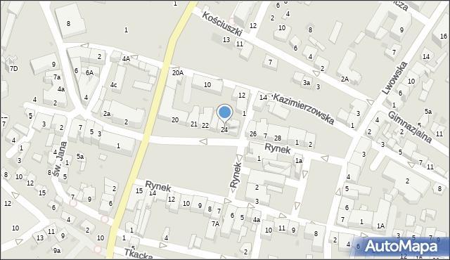 Przeworsk, Rynek, 24, mapa Przeworsk