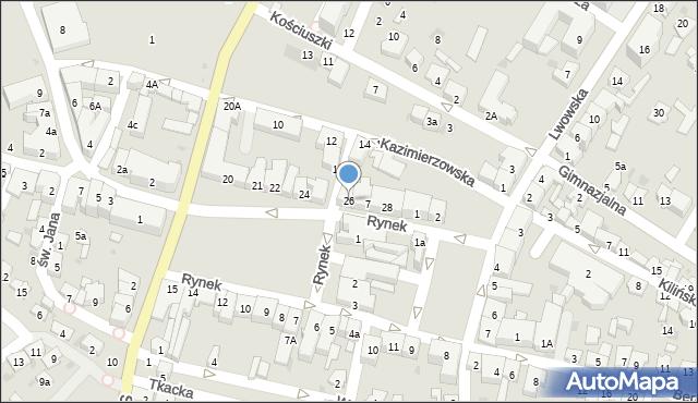Przeworsk, Rynek, 26, mapa Przeworsk