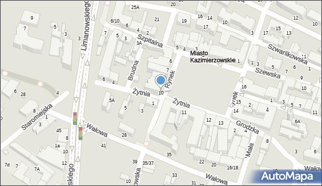 Radom, Rynek, 10, mapa Radomia