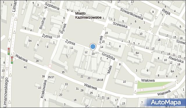 Radom, Rynek, 13, mapa Radomia
