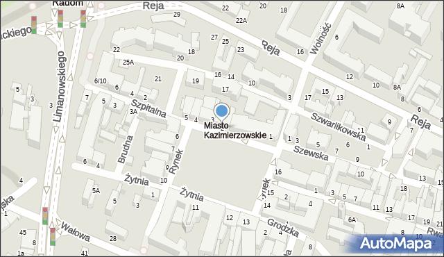 Radom, Rynek, 2, mapa Radomia