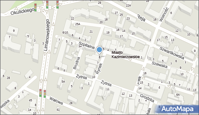Radom, Rynek, 6, mapa Radomia
