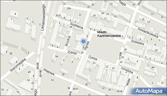Radom, Rynek, 9, mapa Radomia