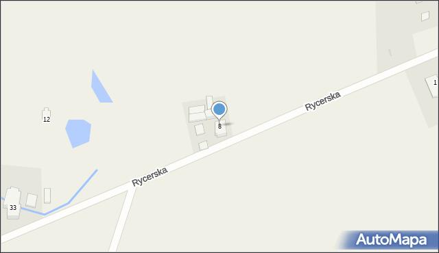 Robakowo, Rycerska, 8, mapa Robakowo