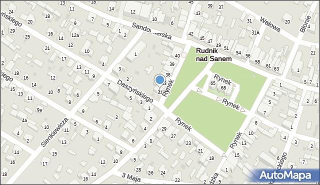 Rudnik nad Sanem, Rynek, 31, mapa Rudnik nad Sanem