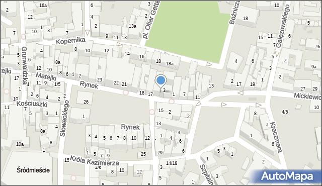 Rzeszów, Rynek, 16, mapa Rzeszów