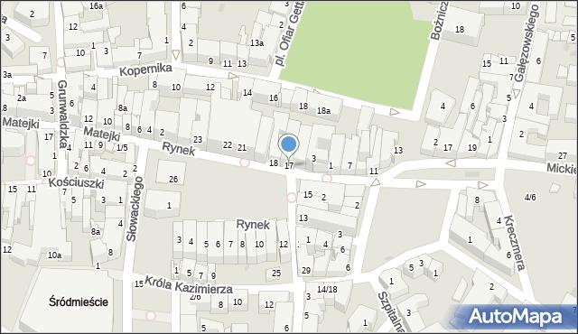 Rzeszów, Rynek, 17, mapa Rzeszów