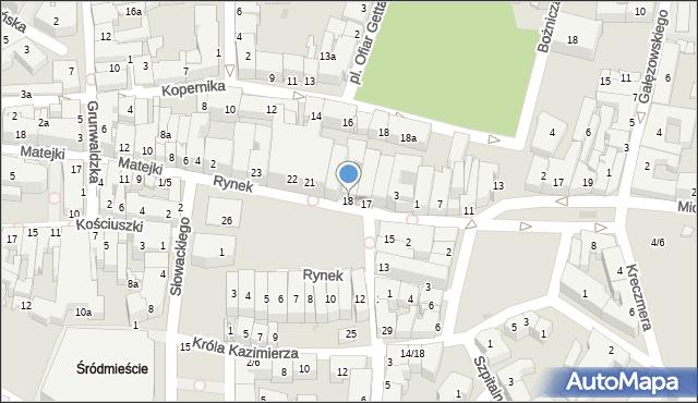 Rzeszów, Rynek, 18, mapa Rzeszów