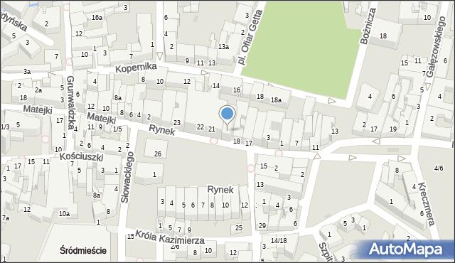 Rzeszów, Rynek, 20, mapa Rzeszów