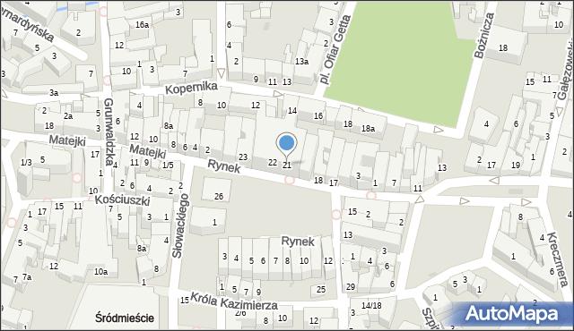 Rzeszów, Rynek, 21, mapa Rzeszów
