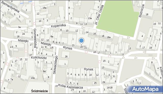 Rzeszów, Rynek, 22, mapa Rzeszów