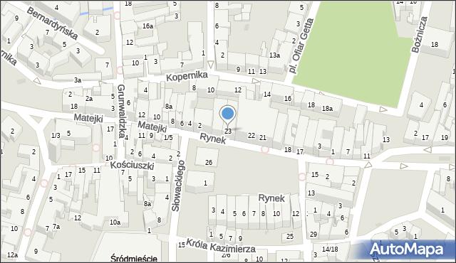Rzeszów, Rynek, 23, mapa Rzeszów