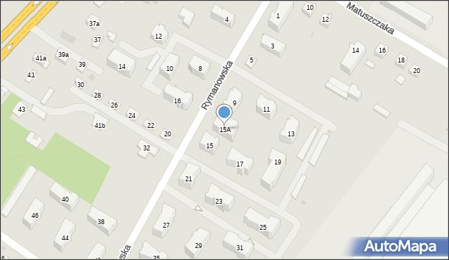 Rzeszów, Rymanowska, 15A, mapa Rzeszów