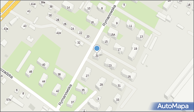Rzeszów, Rymanowska, 21, mapa Rzeszów