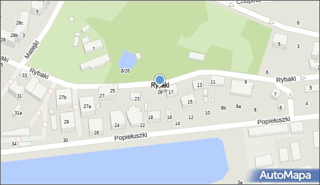 Toruń, Rybaki, 19, mapa Torunia