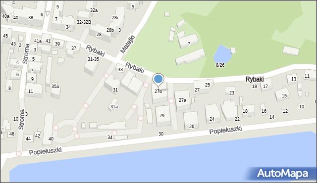 Toruń, Rybaki, 27b, mapa Torunia