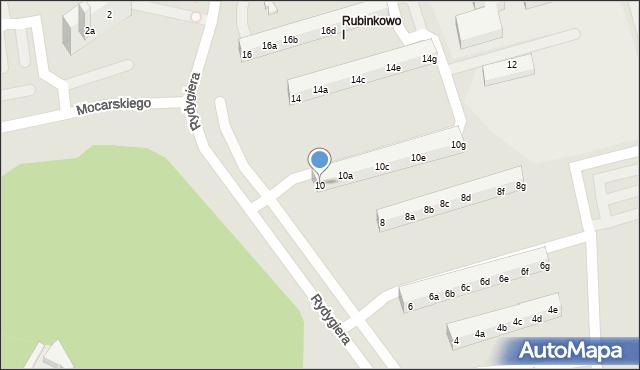 Toruń, Rydygiera Ludwika, 10, mapa Torunia