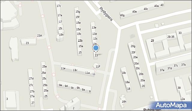 Toruń, Rydygiera Ludwika, 13, mapa Torunia