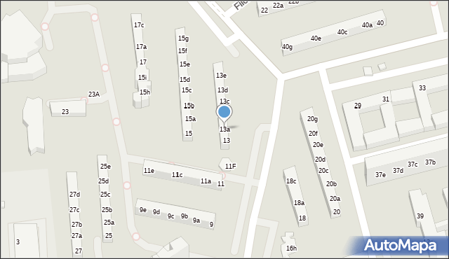 Toruń, Rydygiera Ludwika, 13a, mapa Torunia