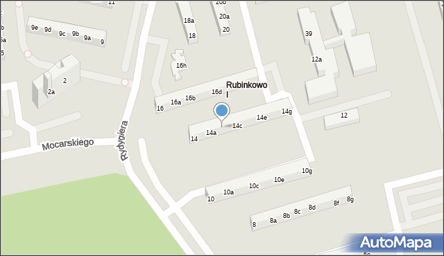 Toruń, Rydygiera Ludwika, 14b, mapa Torunia