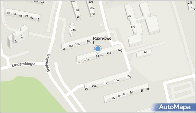 Toruń, Rydygiera Ludwika, 14c, mapa Torunia