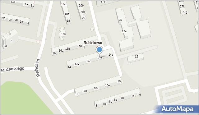 Toruń, Rydygiera Ludwika, 14e, mapa Torunia