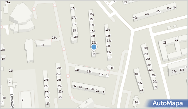 Toruń, Rydygiera Ludwika, 15, mapa Torunia