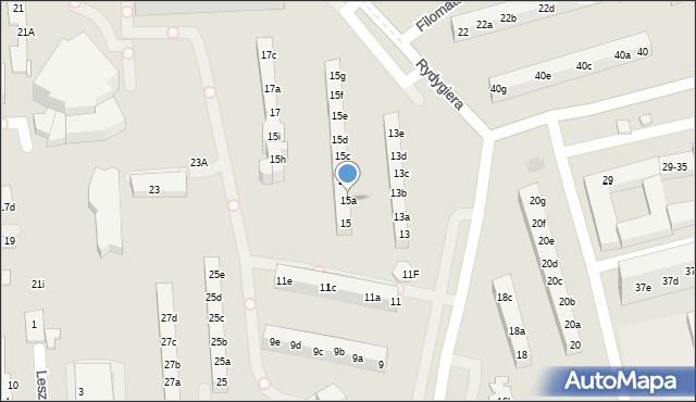 Toruń, Rydygiera Ludwika, 15a, mapa Torunia