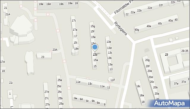 Toruń, Rydygiera Ludwika, 15b, mapa Torunia