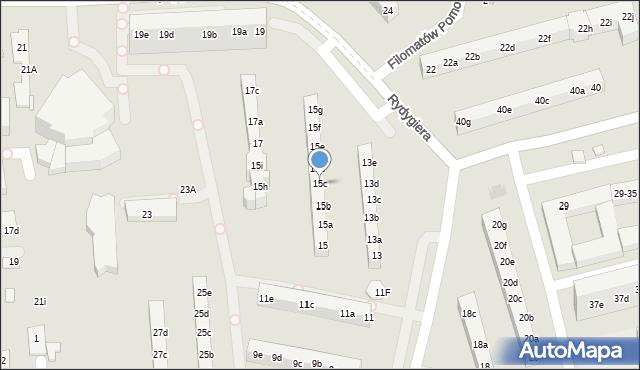 Toruń, Rydygiera Ludwika, 15c, mapa Torunia