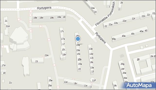 Toruń, Rydygiera Ludwika, 15e, mapa Torunia