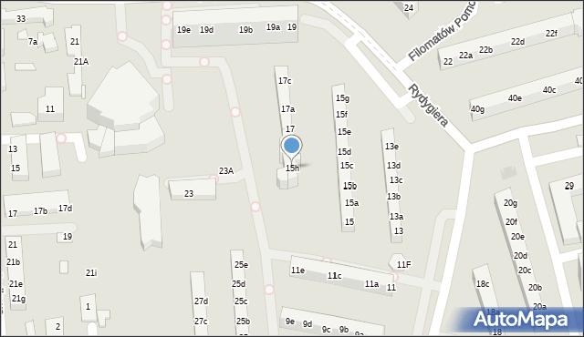 Toruń, Rydygiera Ludwika, 15h, mapa Torunia