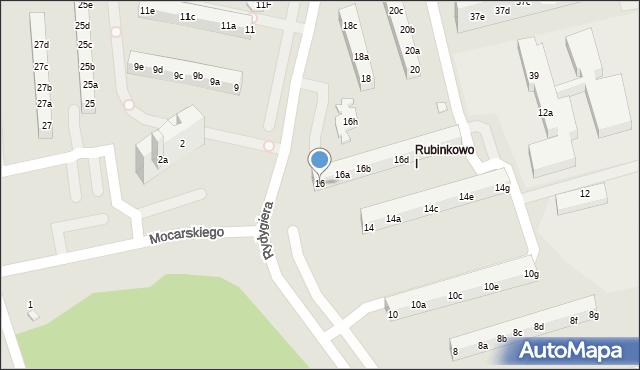 Toruń, Rydygiera Ludwika, 16, mapa Torunia