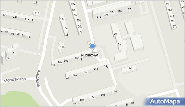 Toruń, Rydygiera Ludwika, 16g, mapa Torunia