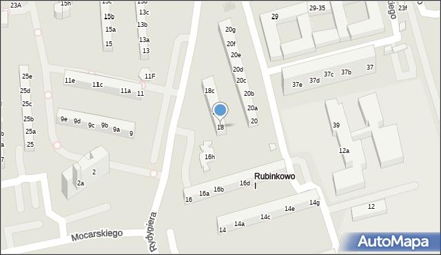 Toruń, Rydygiera Ludwika, 18, mapa Torunia