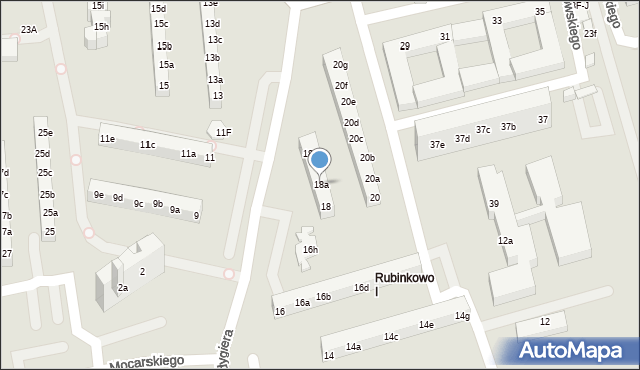 Toruń, Rydygiera Ludwika, 18a, mapa Torunia