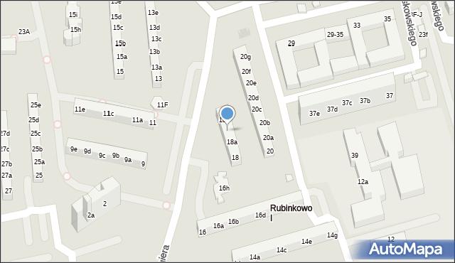 Toruń, Rydygiera Ludwika, 18b, mapa Torunia