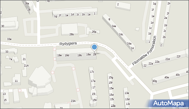 Toruń, Rydygiera Ludwika, 19, mapa Torunia