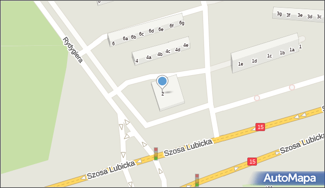 Toruń, Rydygiera Ludwika, 2, mapa Torunia