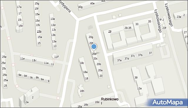 Toruń, Rydygiera Ludwika, 20d, mapa Torunia